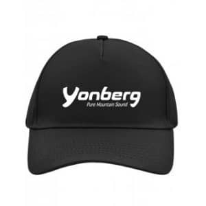 Black embroidered cap